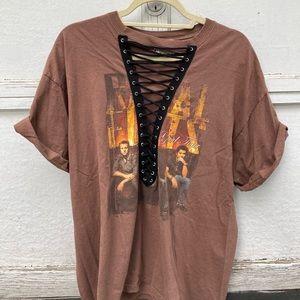 LF lace up Rascal flats shirt